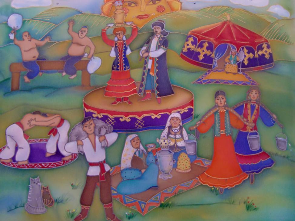 Открытка татарская якшамбе, для изготовления