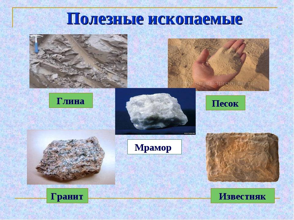 Картинки полезных ископаемых с названиями все