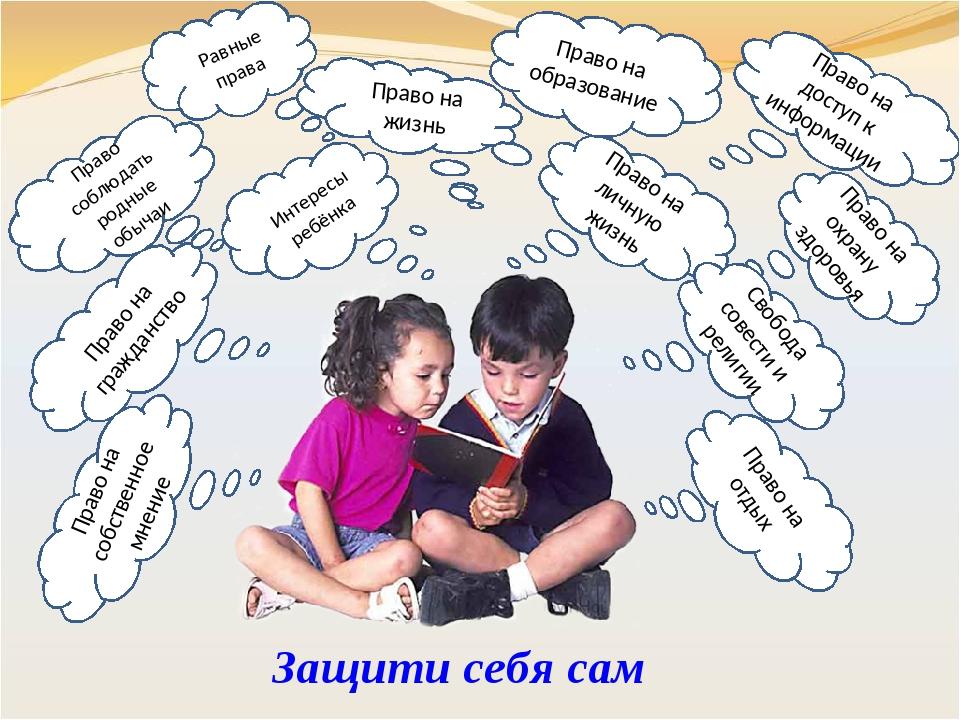 Равные права Право на гражданство Интересы ребёнка Право на личную жизнь Прав...
