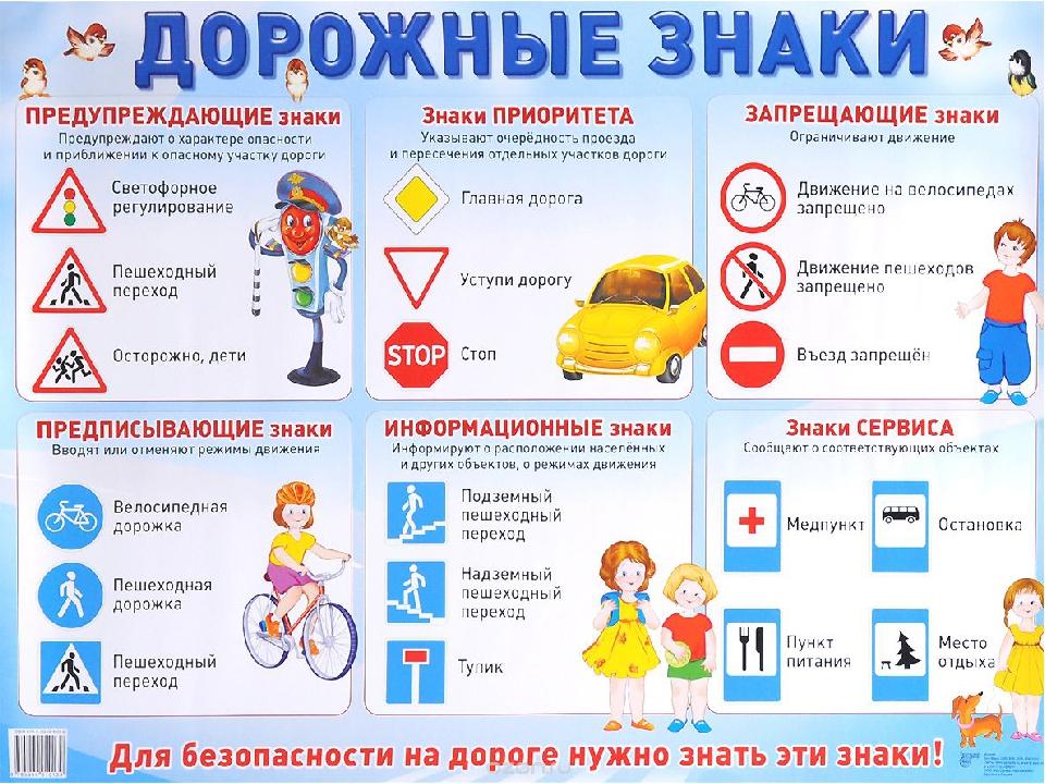 Картинки правилами дорожного движения с названиями