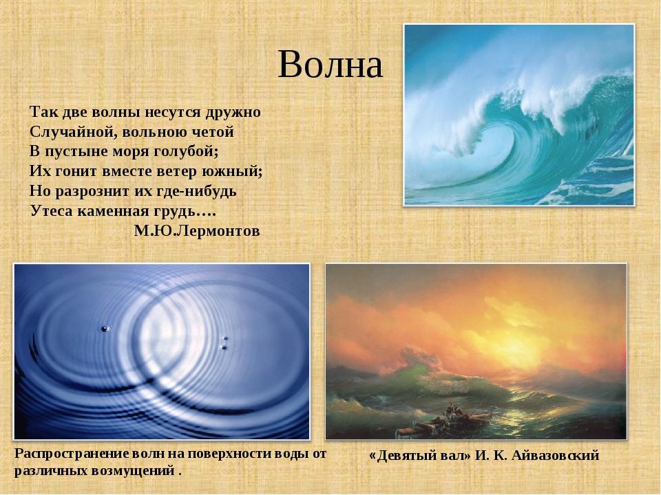 Волна Так две волны несутся дружно Случайной, вольною четой В пустыне моря го...