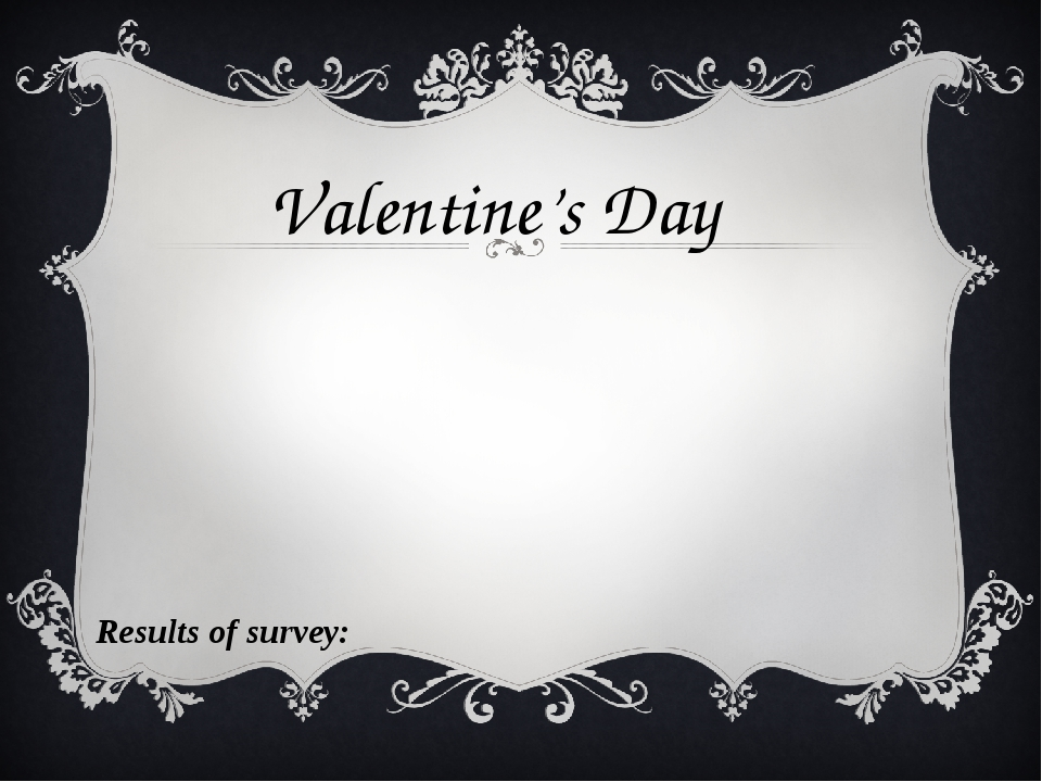 Valentine's Day Results of survey:
