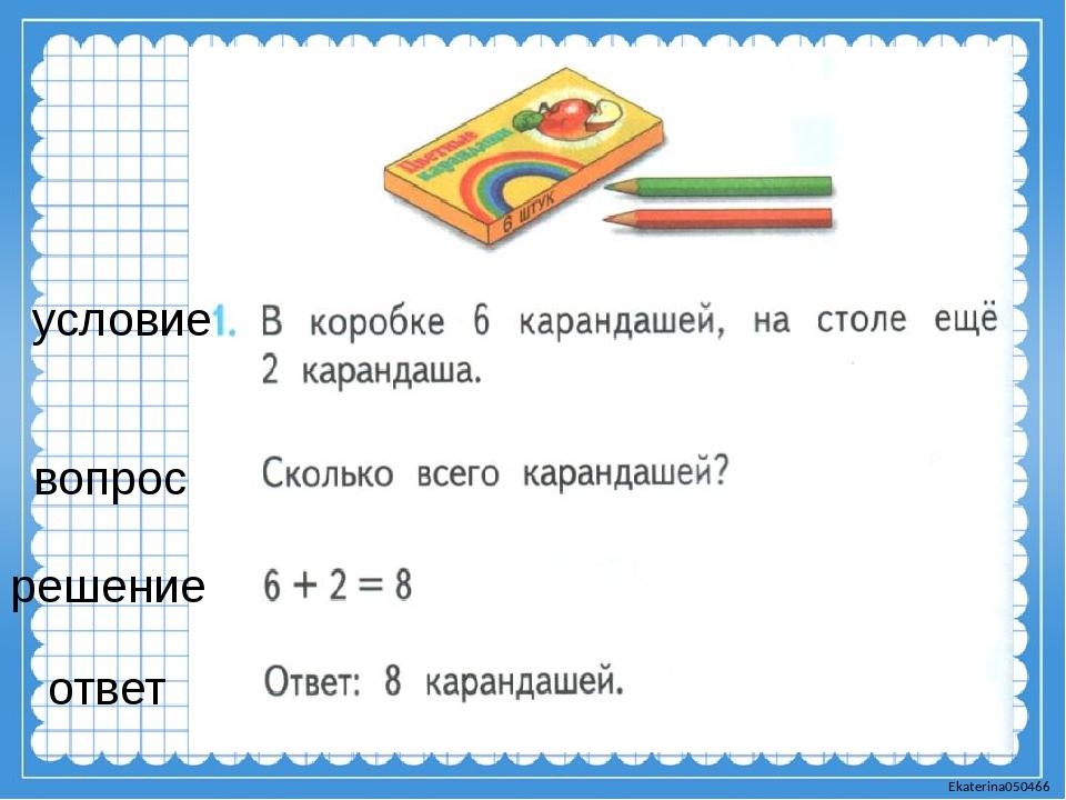 условие вопрос решение ответ Ekaterina050466