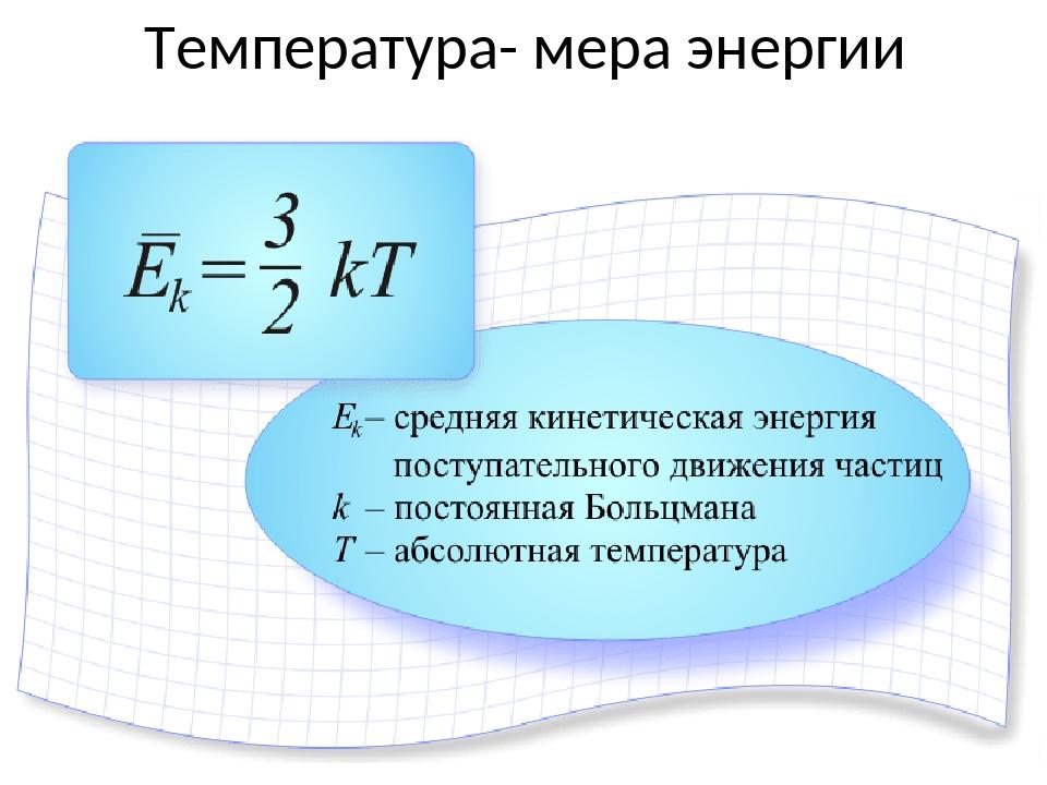 Температура- мера энергии