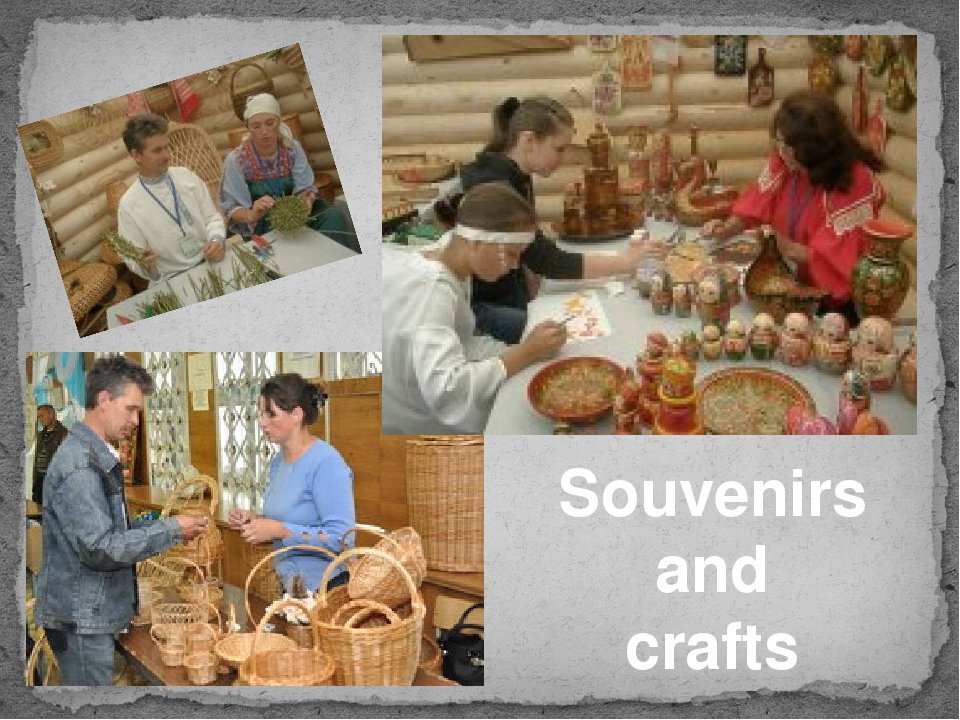 Souvenirs and crafts