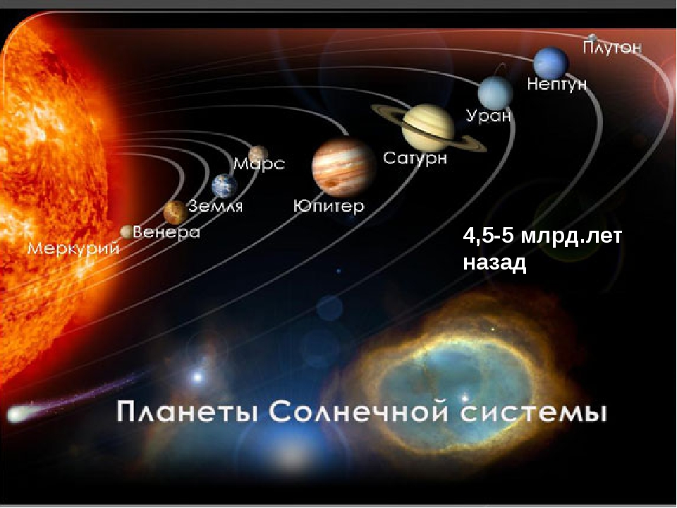 4,5-5 млрд.лет назад
