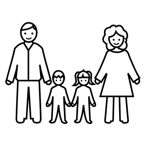 Рисунок семьи карандашом для детей картинки