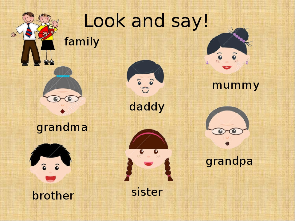 Look and say! brother mummy daddy grandpa grandma sister family