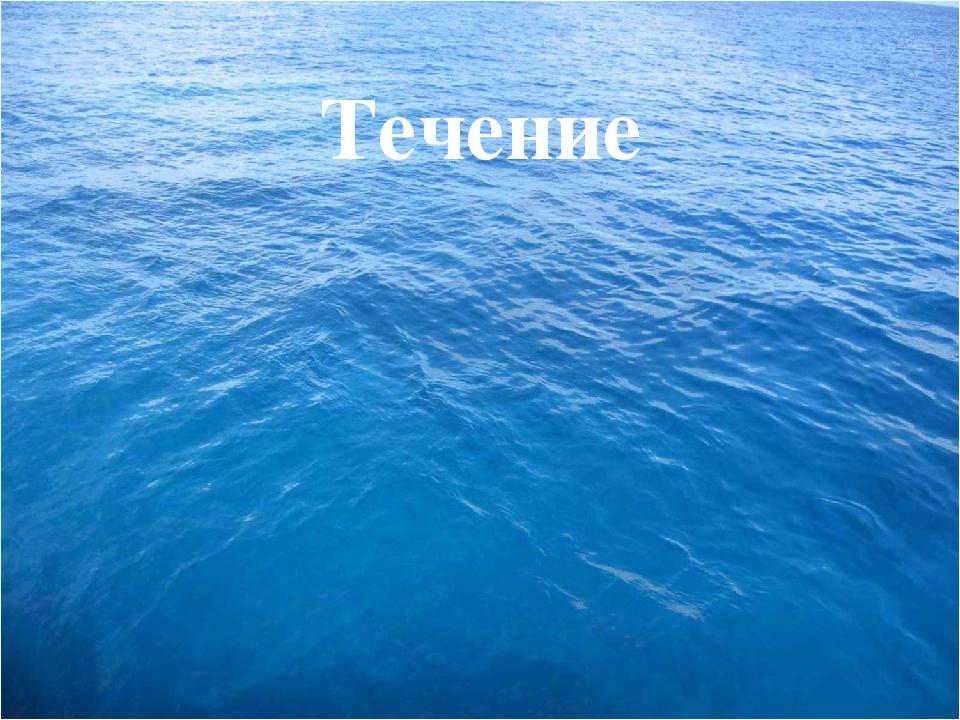Течение это горизонтальное движение вод в океане на большие расстояния