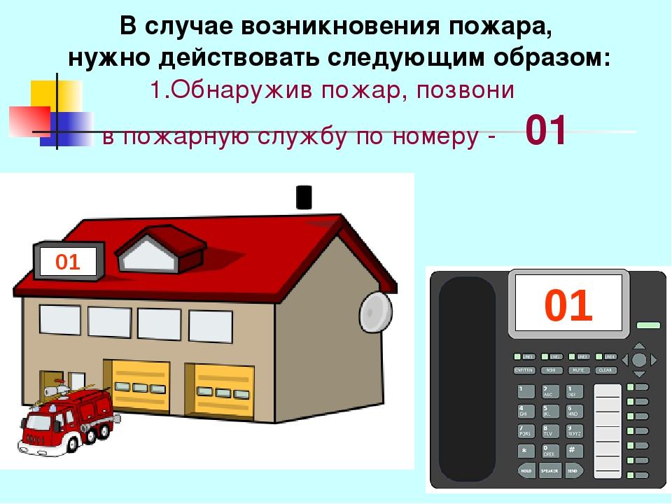 В случае возникновения пожара, нужно действовать следующим образом: 1.Обнаруж...