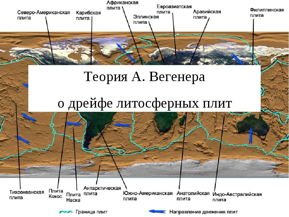 Теория А. Вегенера о дрейфе литосферных плит
