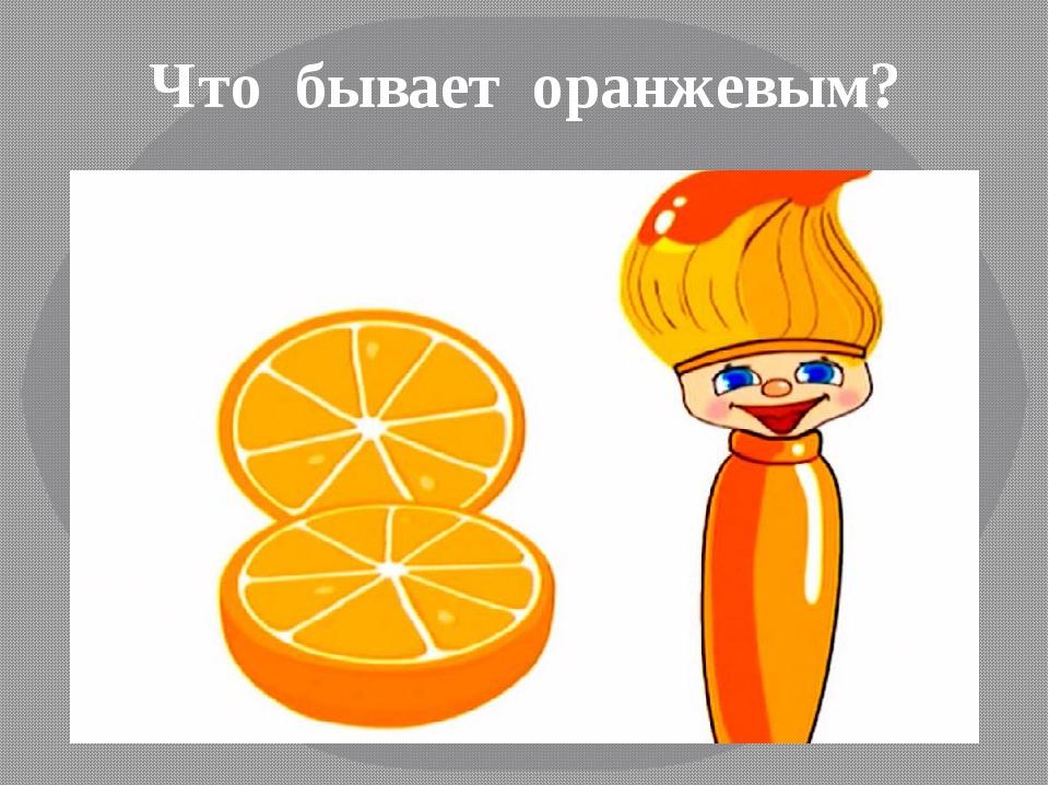 Что бывает оранжевым картинки