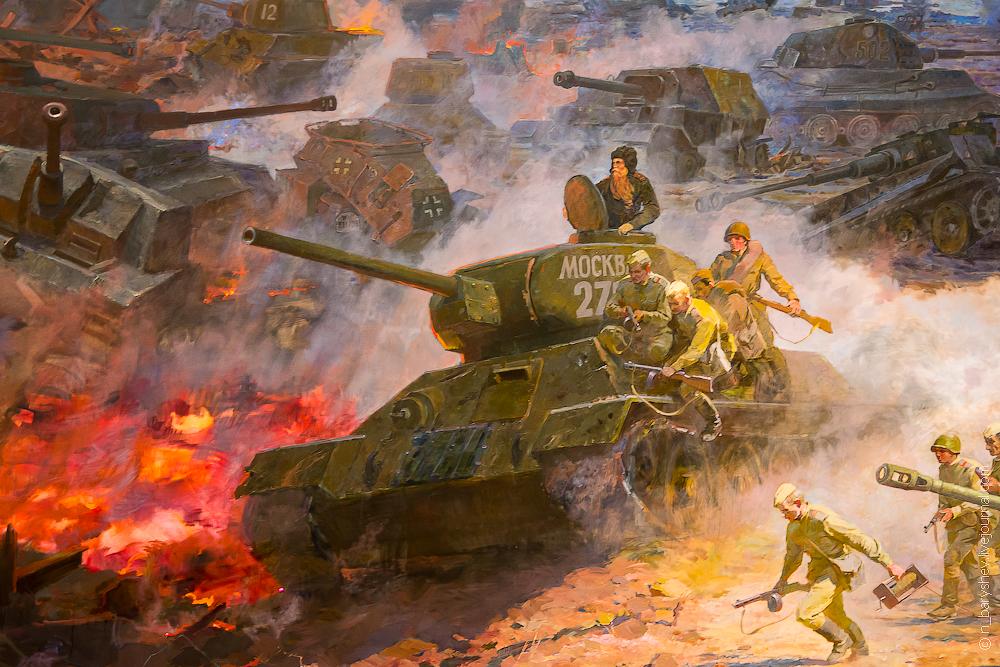 Надписями английскому, танкистам курской битвы открытка