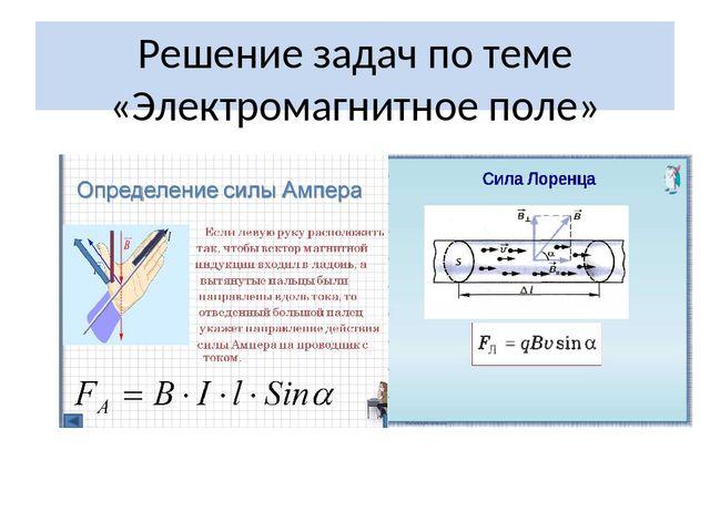 Презентация магнитное поле решение задач подробно решение задач 9 класс