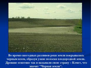 Во время ежегодных разливов реки земля покрывалась черным илом, образуя узкие