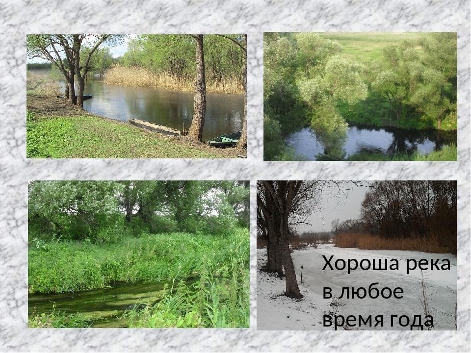 Хороша река в любое время года