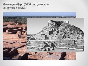 Мохенджо-Даро (5000 тыс. до н.э.) – «Мертвые холмы»
