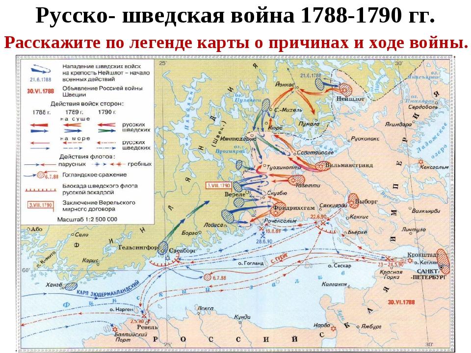 Русско- шведская война 1788-1790 гг. Расскажите по легенде карты о причинах и...