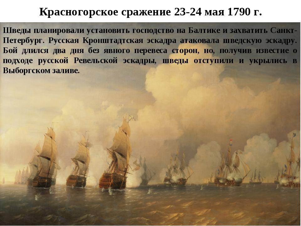 Красногорское сражение 23-24 мая 1790 г. Шведы планировали установить господс...