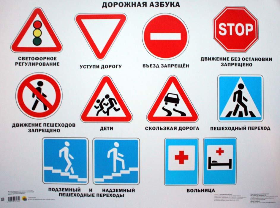 Картинки дорожные знаки по пдд для школьников