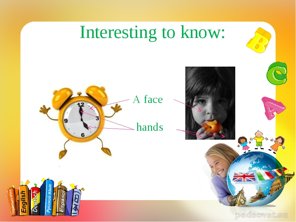 Interesting to know: A face hands
