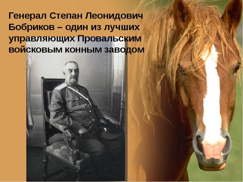Генерал Степан Леонидович Бобриков – один из лучших управляющих Провальским в...