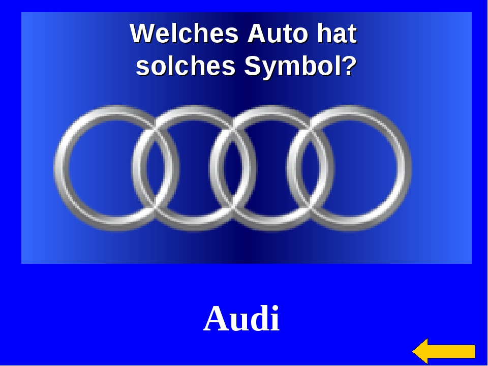 Welches Auto hat solches Symbol? Audi
