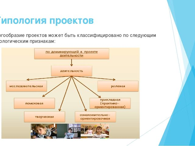 3. Типология проектов Многообразие проектов может быть классифицировано по сл...