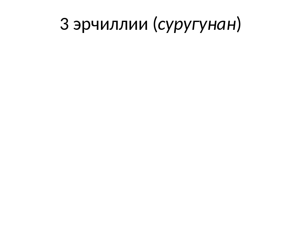 3 эрчиллии (суругунан)