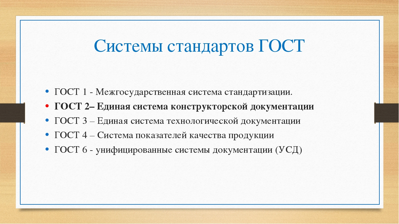 Системы стандартов ГОСТ ГОСТ 1 - Межгосударственная система стандартизации. Г...