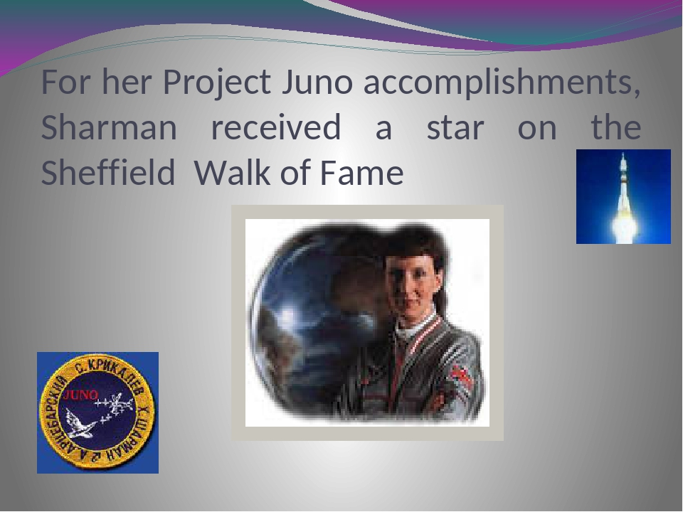 For her Project Juno accomplishments, Sharman received a star on the Sheffiel...