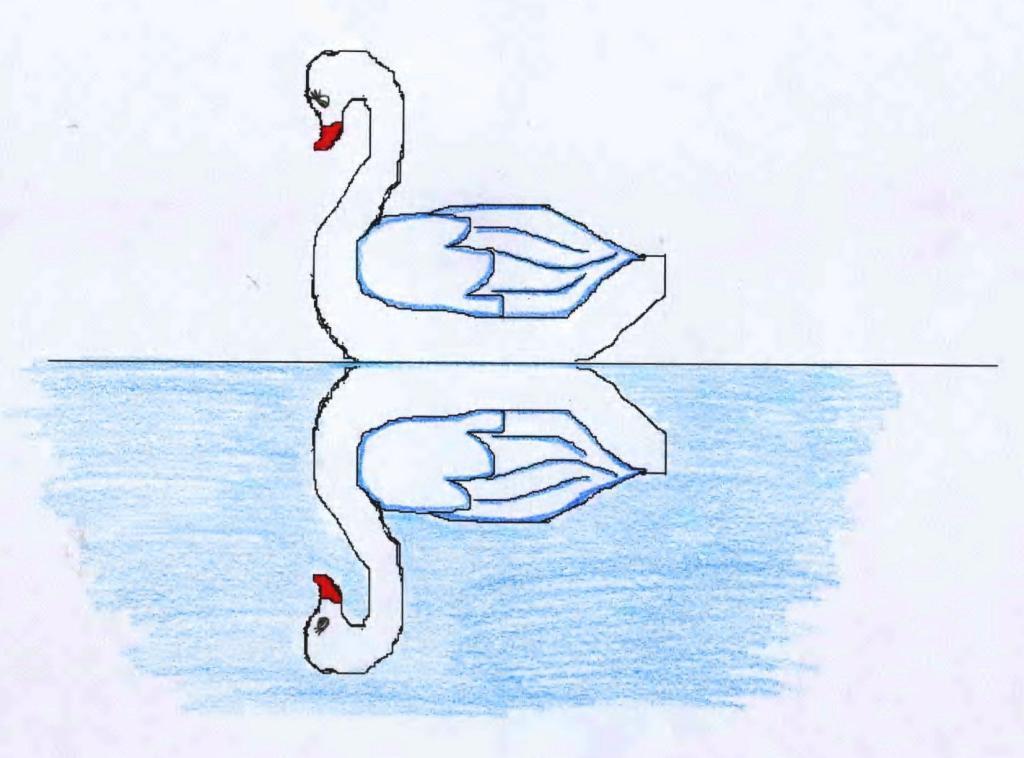 того, как рисовать осевая симметрия картинки данный