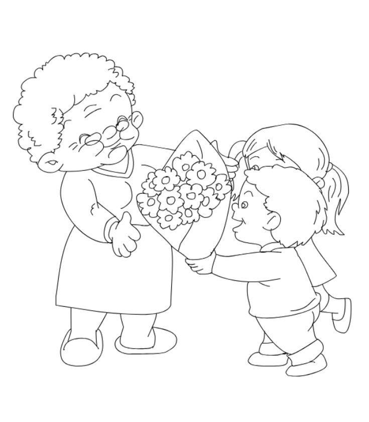 Открытка бабушке нарисовать