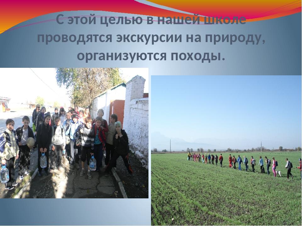 С этой целью в нашей школе проводятся экскурсии на природу, организуются похо...