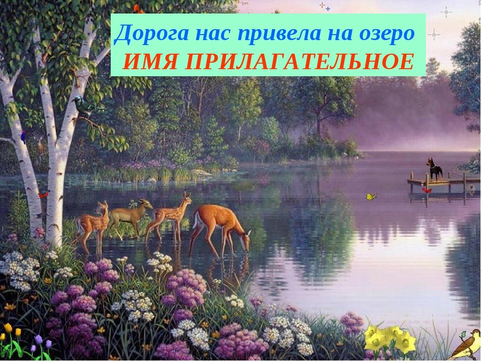 Дорога нас привела на озеро ИМЯ ПРИЛАГАТЕЛЬНОЕ