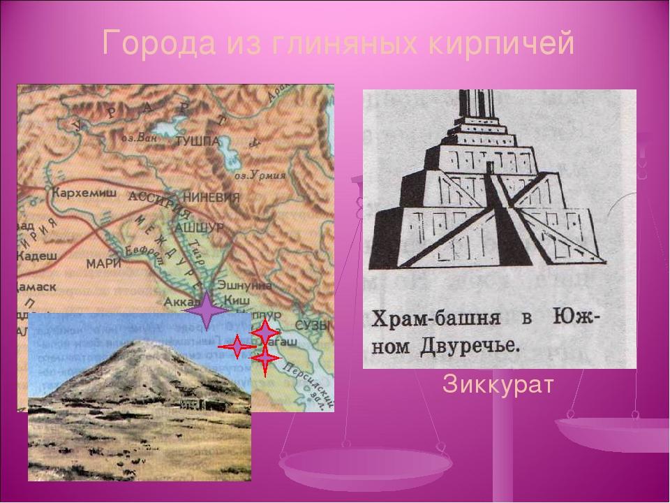 Города из глиняных кирпичей Зиккурат