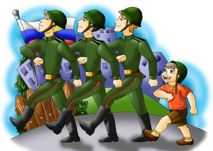 иллюстрации к военному маршу камины