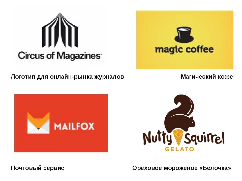 Логотип для онлайн-рынка журналов Магический кофе Почтовый сервис Ореховое мо...