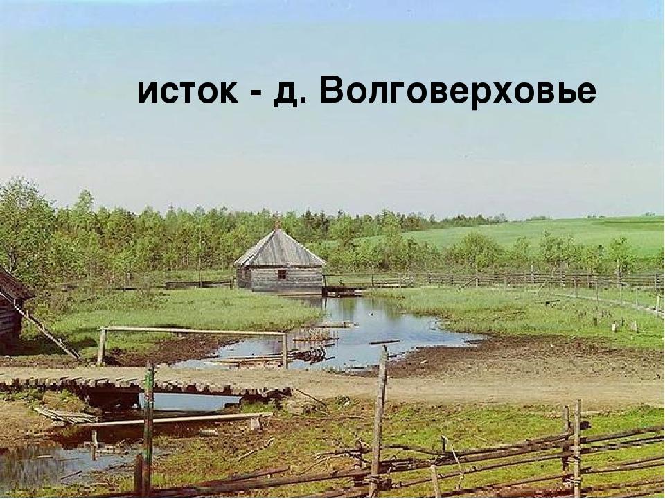 исток - д. Волговерховье