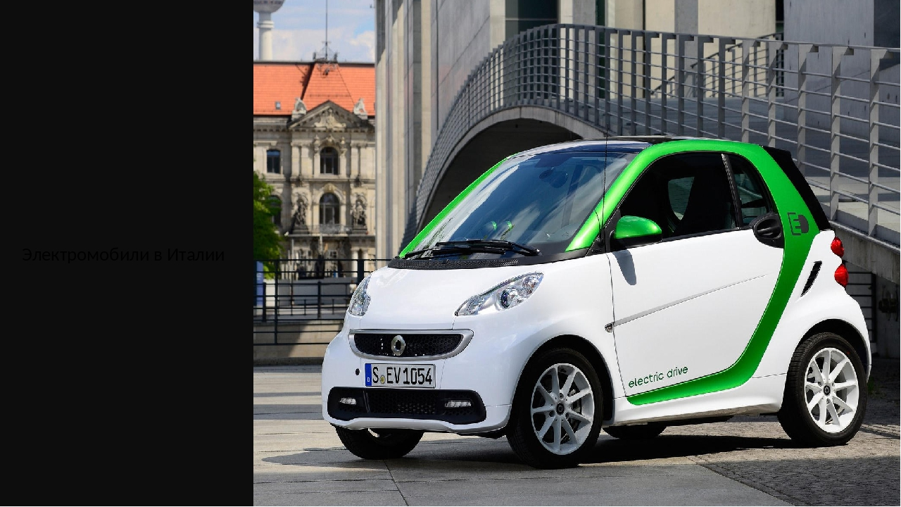 Электромобили в Италии
