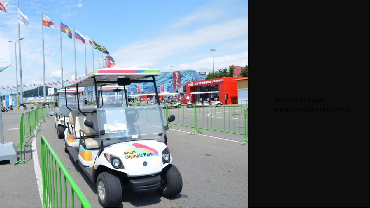 Экскурсионные электромобили в Сочи