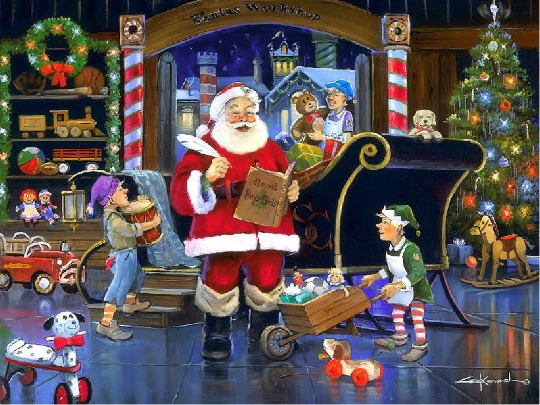 see santa clauss workshop - HD1680×1260