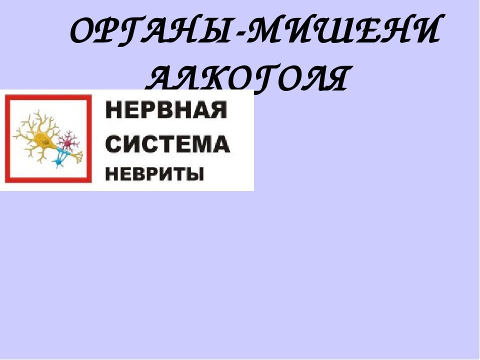 ОРГАНЫ-МИШЕНИ АЛКОГОЛЯ