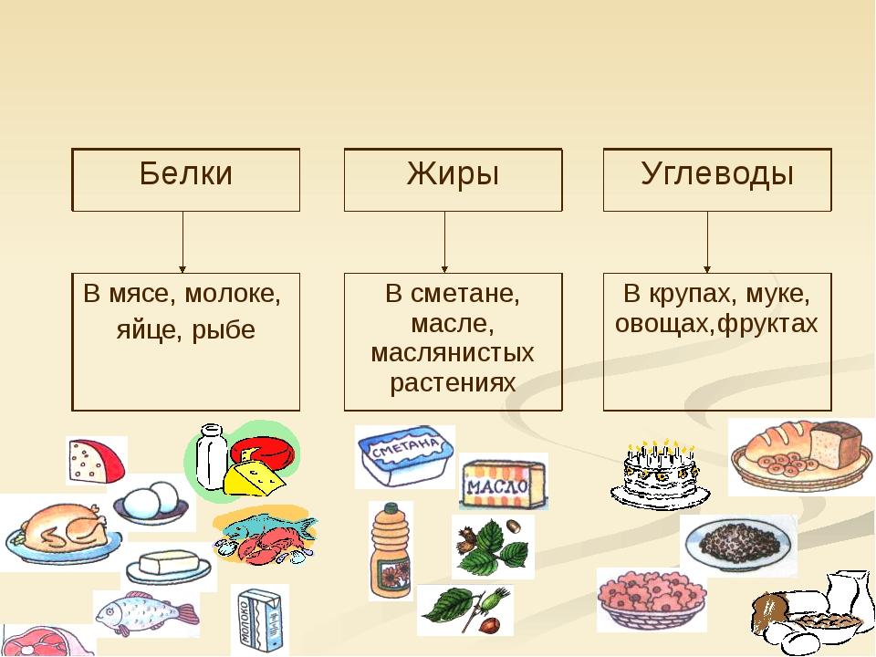 картинки продуктов в жирах углеводах белках и жирах нужно
