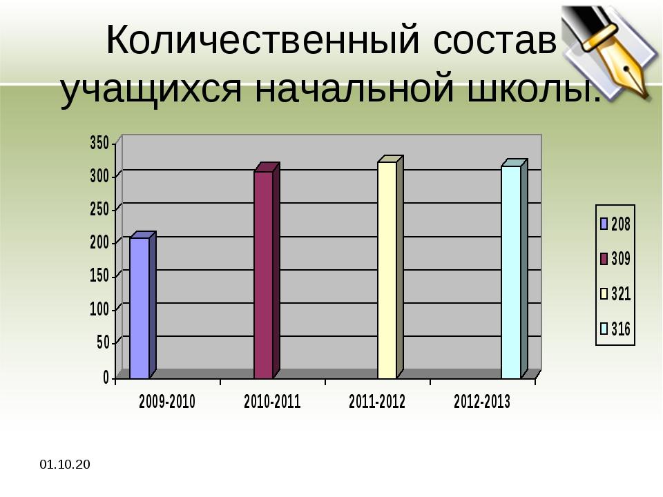 Количественный состав учащихся начальной школы. *