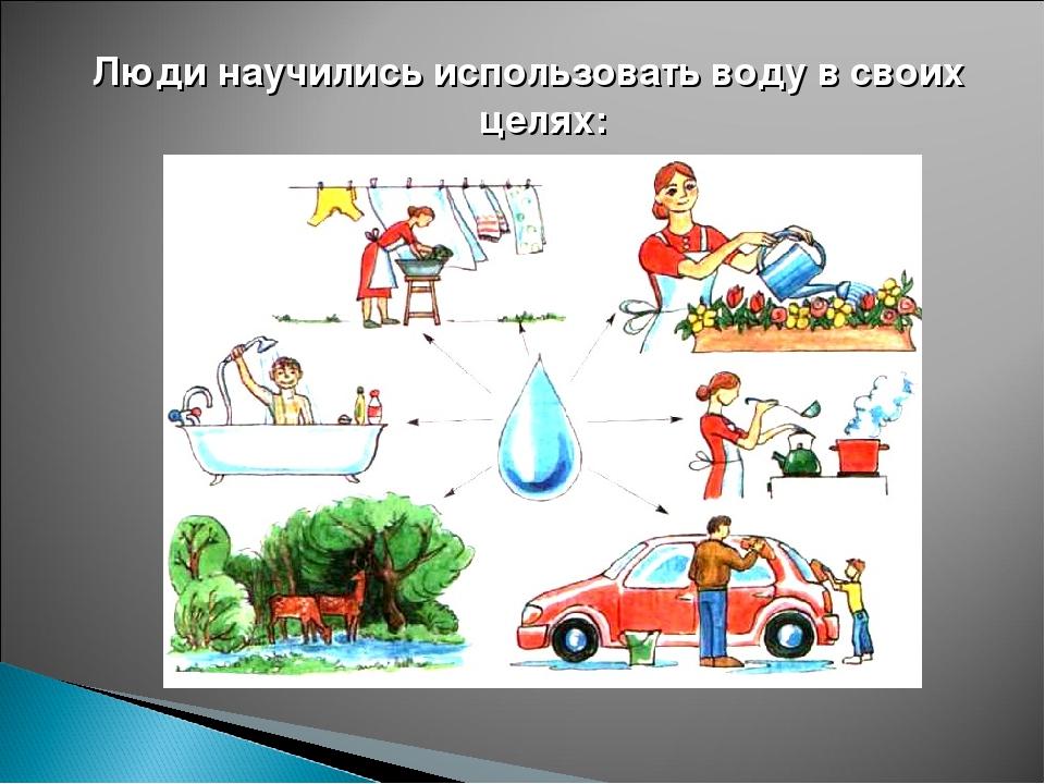Люди научились использовать воду в своих целях: