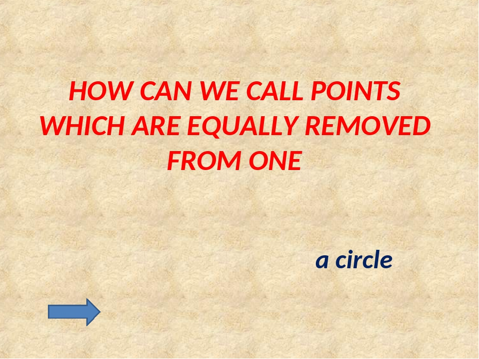 HOW CAN WE CALL POINTS WHICH ARE EQUALLY REMOVED FROM ONE a circle