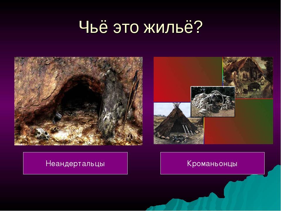 Чьё это жильё? Неандертальцы Кроманьонцы