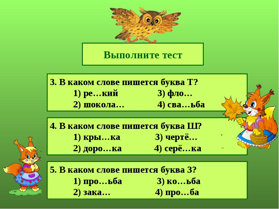 Выполните тест 3. В каком слове пишется буква Т? 1) ре…кий 3) фло… 2) шокола…...