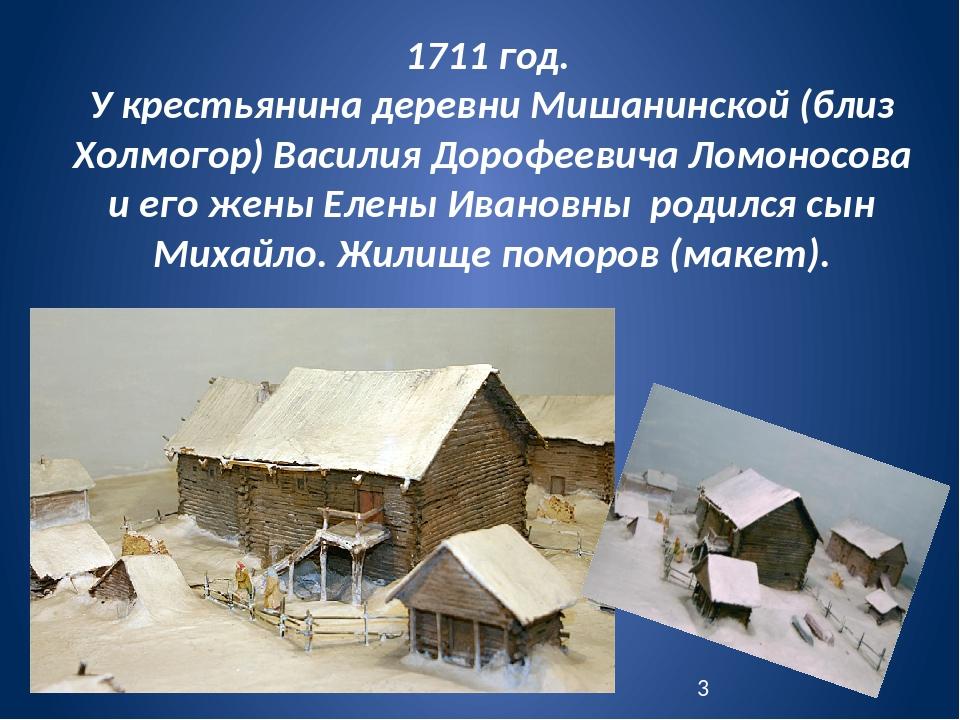 1711 год. У крестьянина деревни Мишанинской (близ Холмогор) Василия Дорофееви...